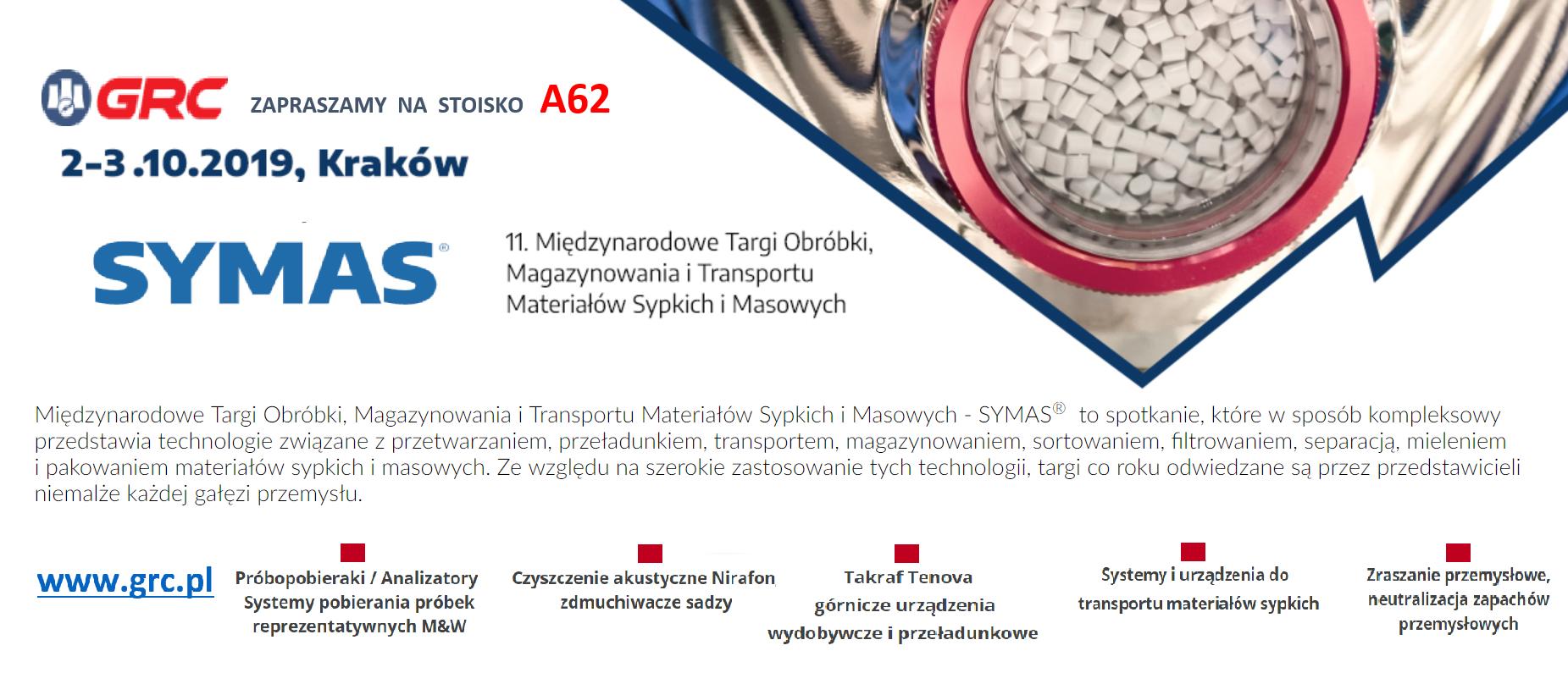 GRC na targach SYMAS, Kraków 2-3.10.2019