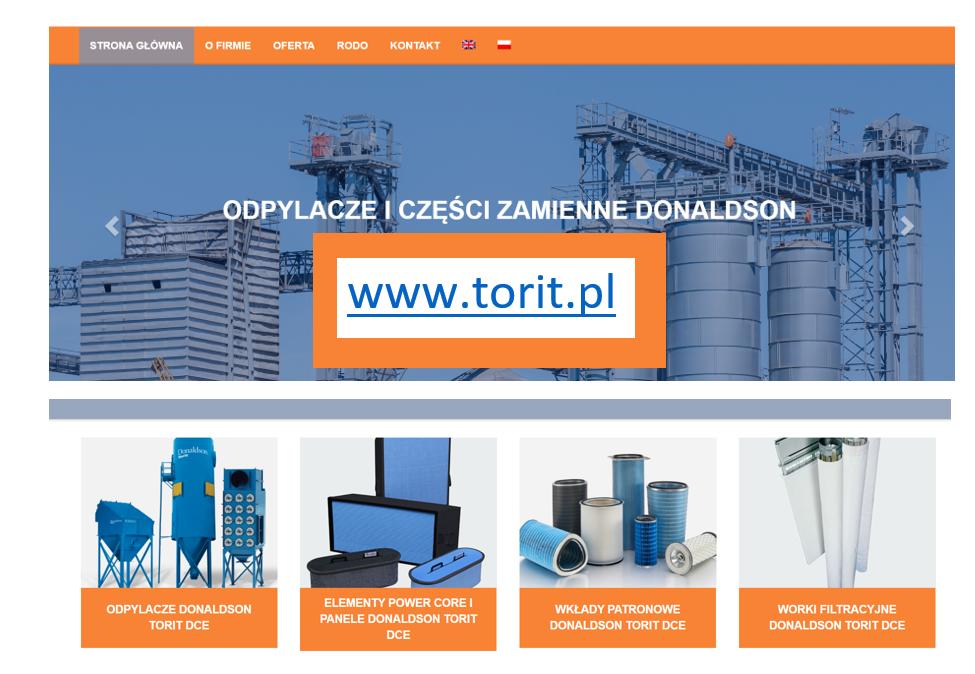 Nowa strona www.torit.pl Odpylanie